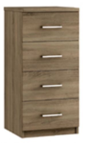 Modena 4 Drawer Narrow Chest